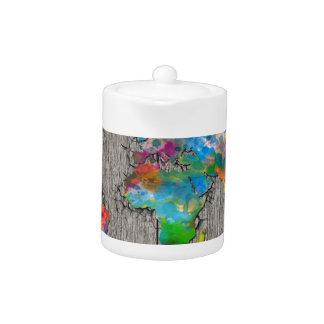 world map wood 3