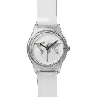 World map wristwatches
