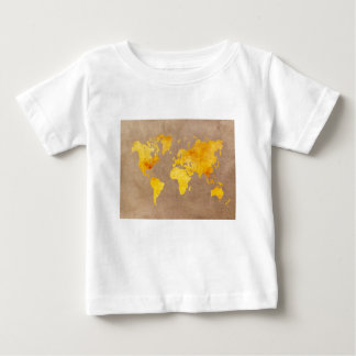 world map yellow baby T-Shirt