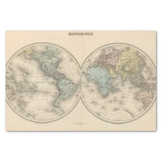 World maps tissue paper