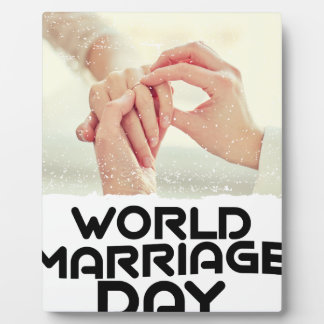 World Marriage Day - Appreciation Day Plaque