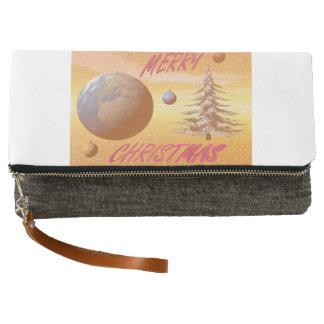 world merry christmas clutch