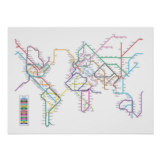 World Metro Map Print