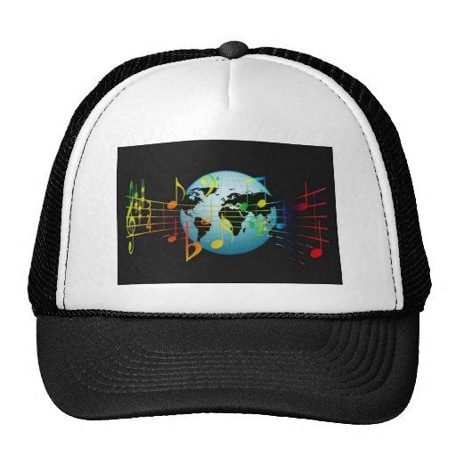 World Musical Notes Trucker Hats
