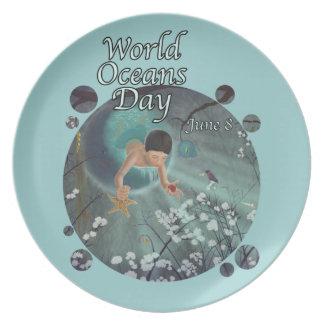 World Oceans Day - Keepsakes of the Ocean Dinner Plate