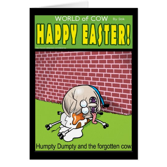 World of Cow Easter card