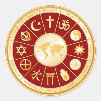 World of Faith Classic Round Sticker