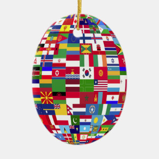 World Of Flags Ceramic Ornament