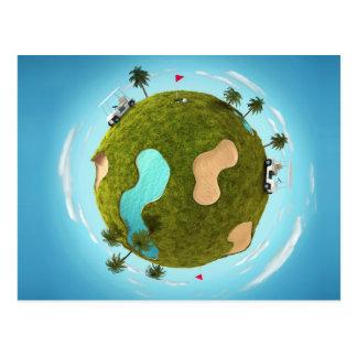 World of Golf Postcard