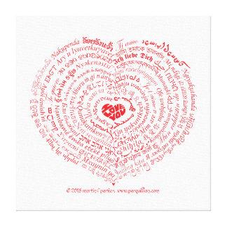 World of Love Heart Canvas Print