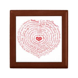 World of Love Heart Keepsake Box