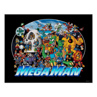 World of Mega Man Poster