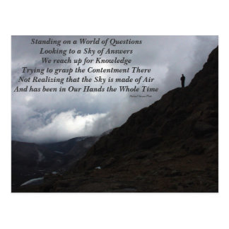 World of Questions Postcard