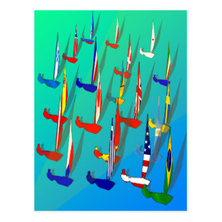 World of Sailing Regatta Postcards for sailors