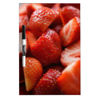World OF Strawberries Dry Erase White Board