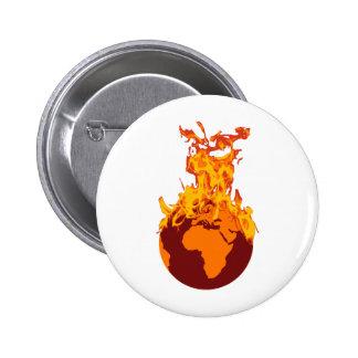 World on Fire Pinback Button
