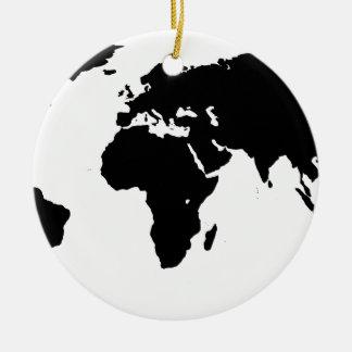 World Outline Ceramic Ornament