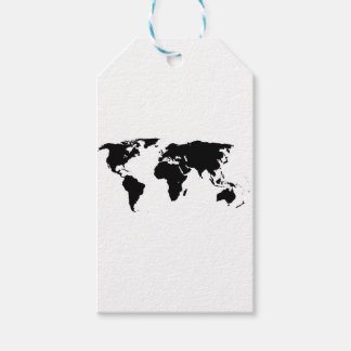 World Outline Gift Tags