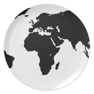 World Outline Plate