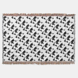 World Outline Throw Blanket