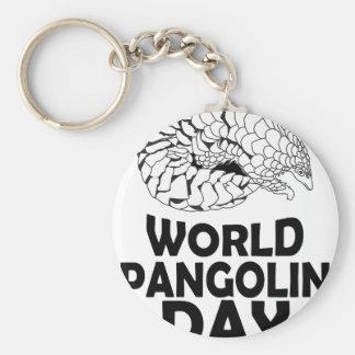World Pangolin Day - 18th February Basic Round Button Keychain