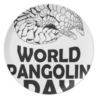 World Pangolin Day - 18th February Plate