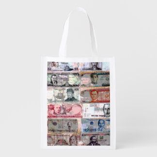 World Paper Money Reusable Grocery Bag