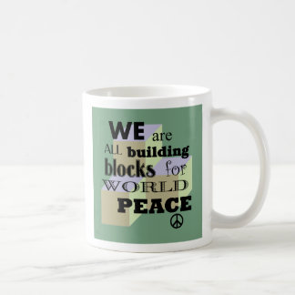 World Peace Building Blocks Coffee Mug