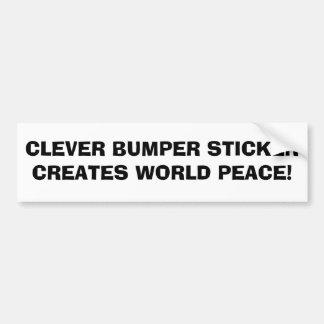 WORLD PEACE - Bumper Sticker