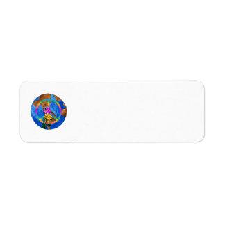 World Peace Colors Return Address Label