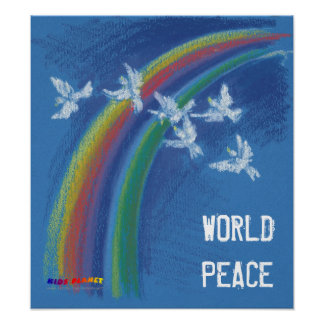 World Peace | Flying Pigeons Poster