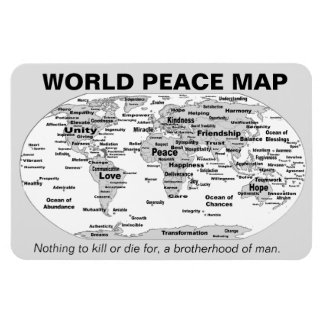 World Peace Map Magnet