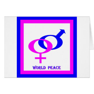 World Peace (Men and Women United) Card