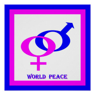World Peace (Men and Women United) Poster
