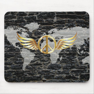 World peace mouse pad