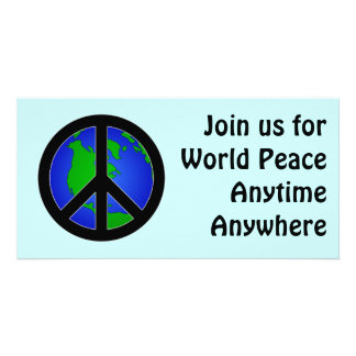 World Peace Personalized Photo Card