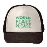 World Peace Please Trucker Hats