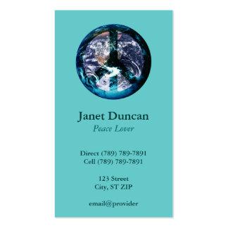 World Peace Profile Card Business Card