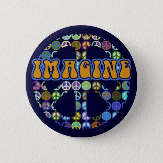 World Peace - Retro 2 Inch Round Button