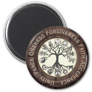 World Peace Tree of Life 2 Inch Round Magnet