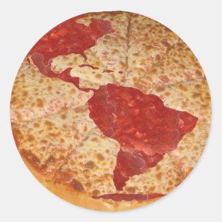 World Pizza Classic Round Sticker