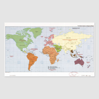 World Political Regional Map (1985) Sticker