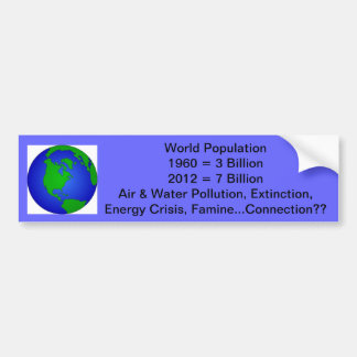 World Population Bumper Sticker