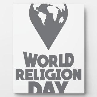 World Religion Day - Appreciation Day Plaque