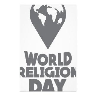 World Religion Day - Appreciation Day Stationery