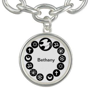 World Religions Circle Charm Bracelets