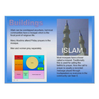 World Religions, Religious buildings Islam Poster