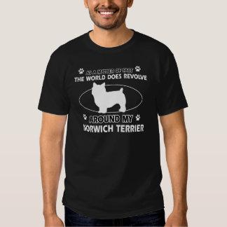 World revolves around my norwich terrier tshirts