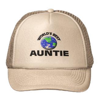 World s Best Auntie Trucker Hats