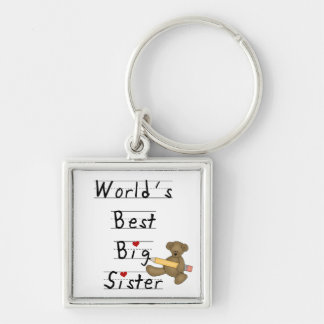 World s Best Big Sister Gifts Keychain